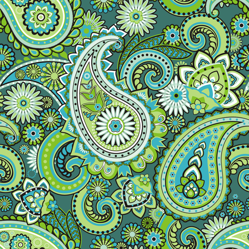 Floral paisley pattern seamless vector 01 vector floral vector
