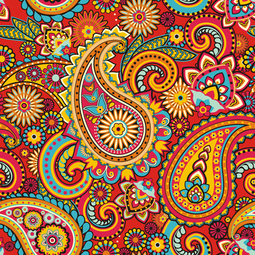 Floral paisley pattern seamless vector 03 free download