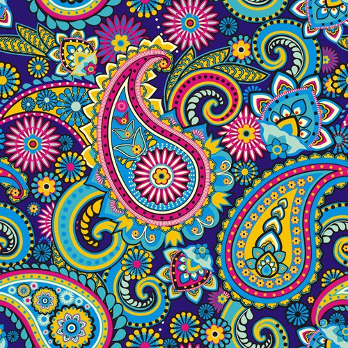 floral paisley patterns