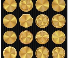 Golden textured badge vector material 03