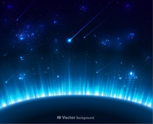 Magic Universe Space Vector Background 03 Vector
