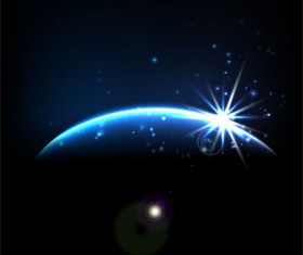 Magic universe space vector background 12