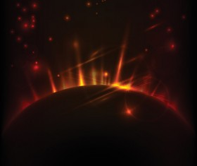 Magic universe space vector background 14