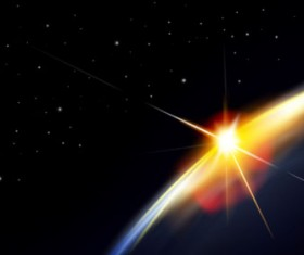 Magic universe space vector background 18