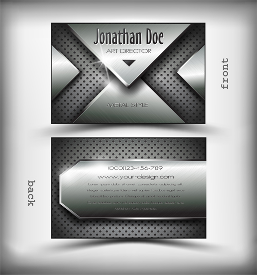 Metallic style business cards vectors 01 free download metallic style business cards vectors 01 reheart Choice Image