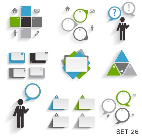 Modern infographics elements illustration vector 05