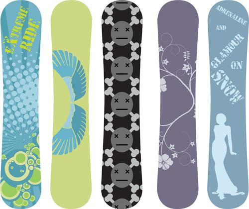 Modern Snowboard Vector Template Design 02 Free Download