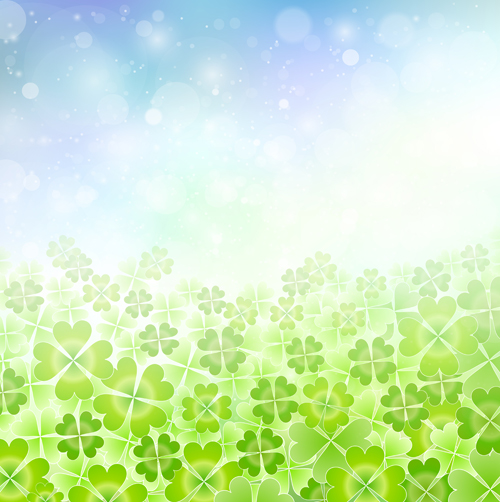 Natural green halation background art 01