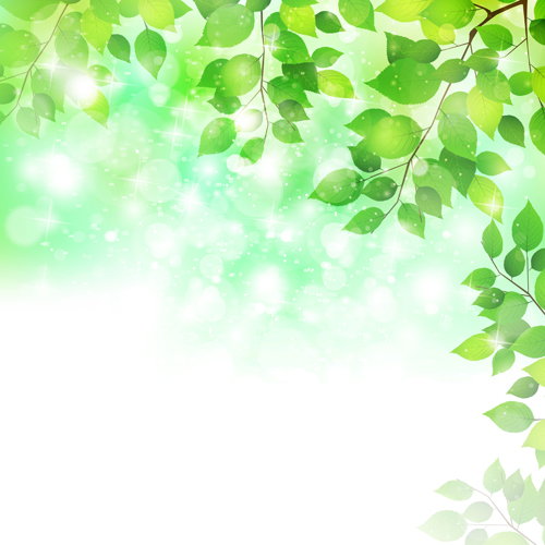 Natural green halation background art 03