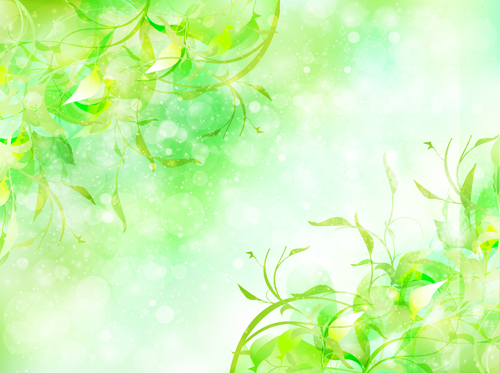 Natural green halation background art 04