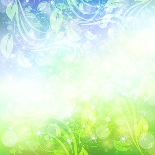 Natural green halation background art 09