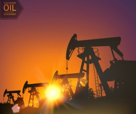 Oil and development background vector 01