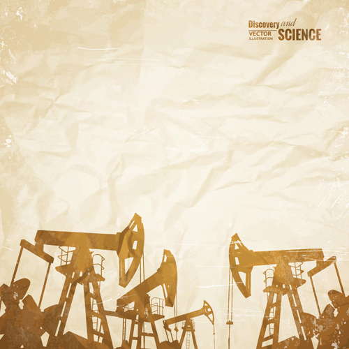 Oil and development background vector 02