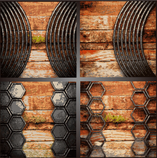 Old metal and wood vector background 01