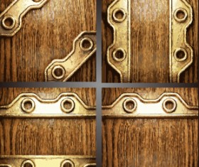 Old metal and wood vector background 02