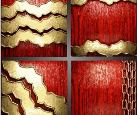Old metal and wood vector background 03