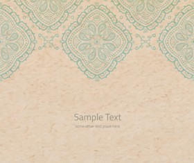 Old paper with floral background vector set 03