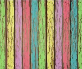 Old wooden floor textured background vector 05