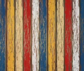 Old wooden floor textured background vector 06