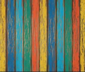 Old wooden floor textured background vector 07