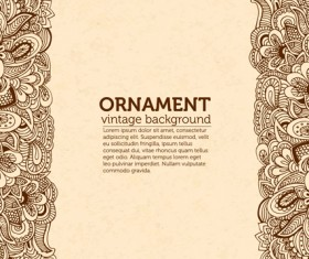 Ornaments vintage background art vector