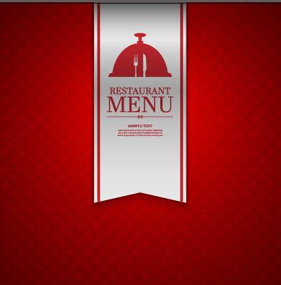 Ornate restaurant menu background art 03
