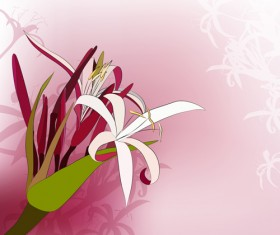 Paper cut flower with pink background vector
