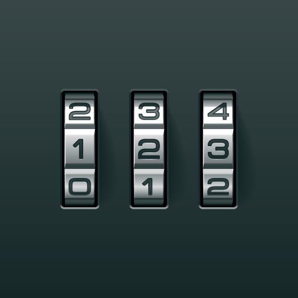 password lock background vector free download