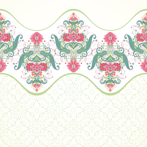 Pink floral with beautiful background vector 01