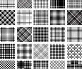 Plaid fabric patterns seamless vector 07