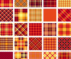 Plaid fabric patterns seamless vector 09