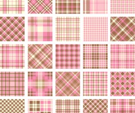 Plaid fabric patterns seamless vector 10