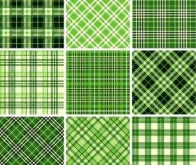 Plaid fabric patterns seamless vector 16