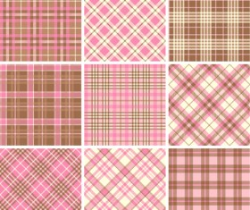 Plaid fabric patterns seamless vector 17