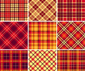 Plaid fabric patterns seamless vector 18