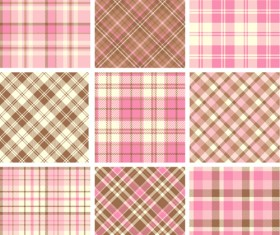 Plaid fabric patterns seamless vector 21