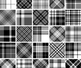 Plaid fabric patterns seamless vector 25