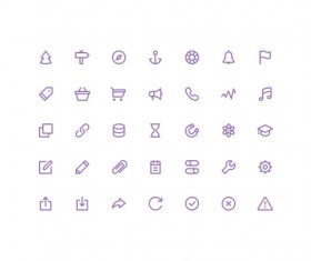 Purple UI outline icons