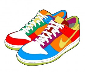 Realistic sports shoes vector design 03