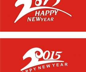 Red style 2015 new year backgrounds art design