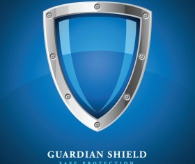 Security protect shield background vector 01