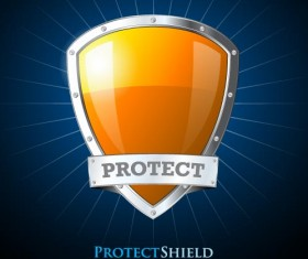 Security protect shield background vector 02