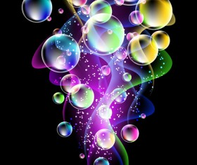 Shiny colorful bubble with abstract background 01