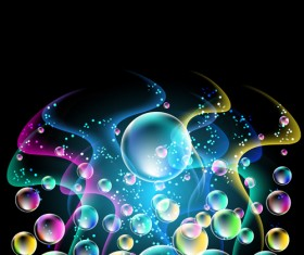 Shiny colorful bubble with abstract background 03
