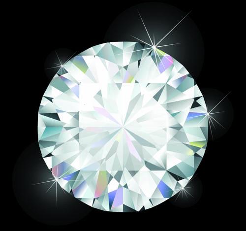Shiny diamond vector design 01
