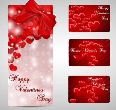 Shiny Valentines Day Gift Cards Set 10 Free Download