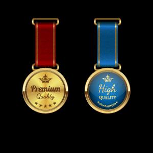 Sparkling award medal vector set 01