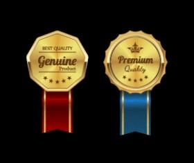 Sparkling award medal vector set 03