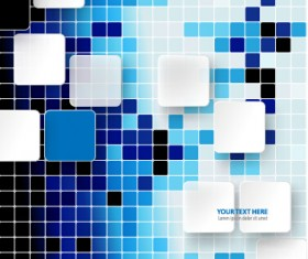Square and mosaics shiny background vector 02