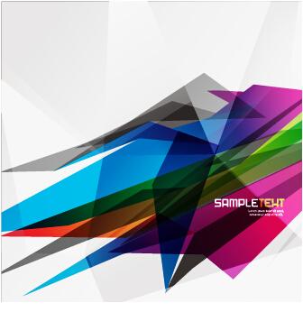 Stylish geometric shapes vector backgrounds 02